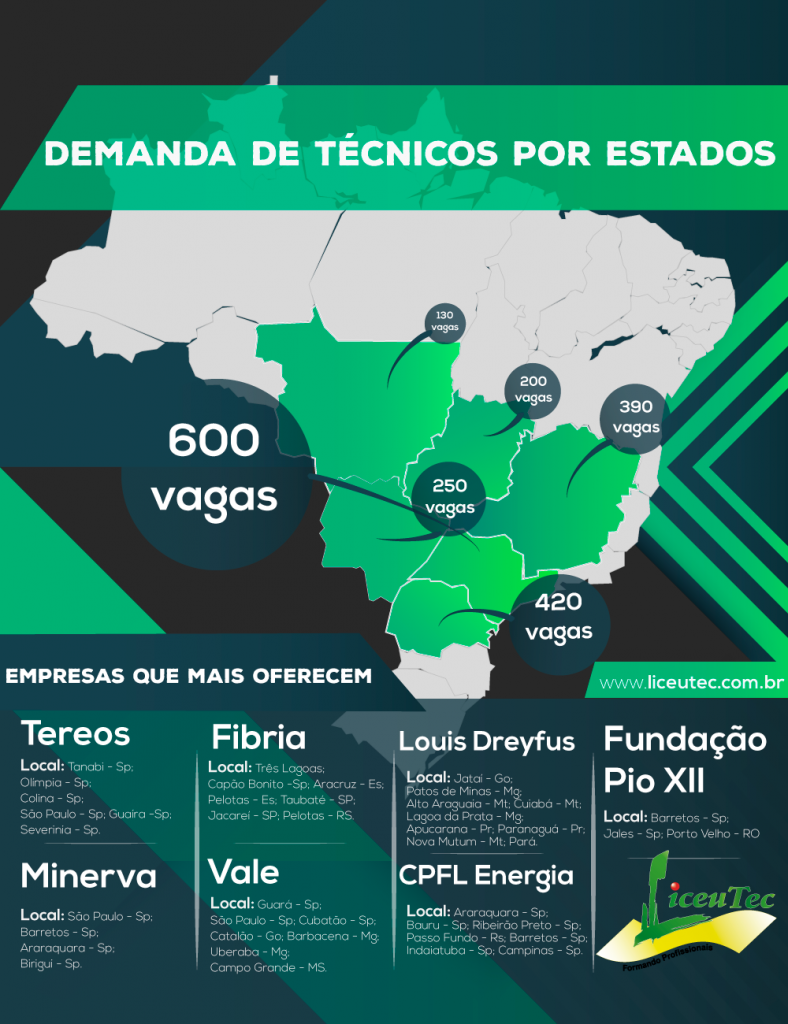 Infográfico - Mercado de Profissionais Técnicos no Brasil