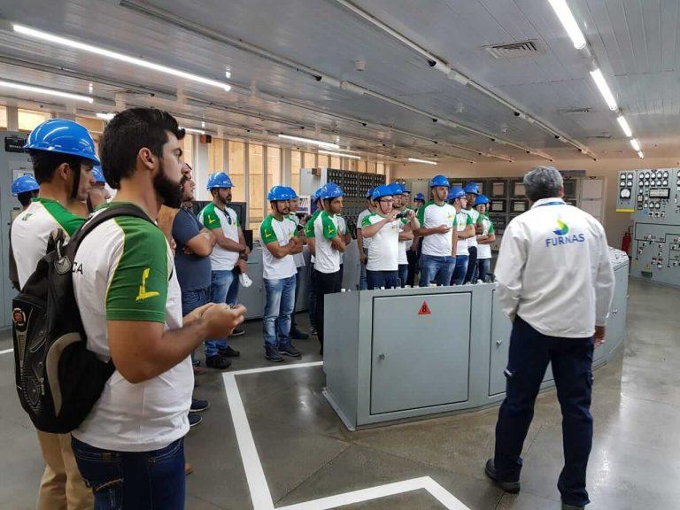 Parceria entre Furnas e LiceuTec realiza visita técnica na UHE Marimbondo