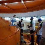 Alunos visitam Usina Hidrelétrica Marimbondo, visita técnica, Turbina - LiceuTec