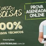 Concurso de Bolsas de 30% a 100%. Somente Provas On-line