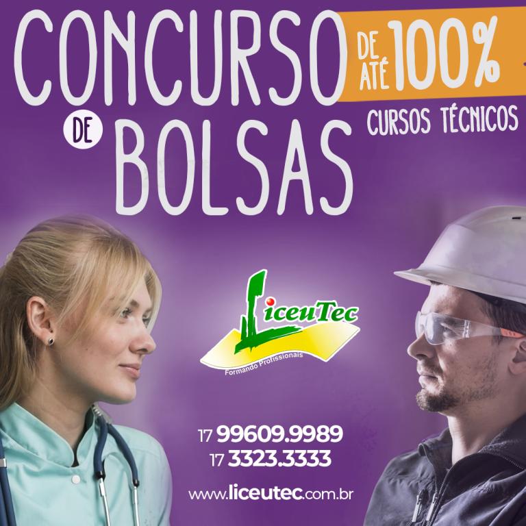 Read more about the article LiceuTec abre inscrições para Concurso de Bolsas para Cursos Técnicos